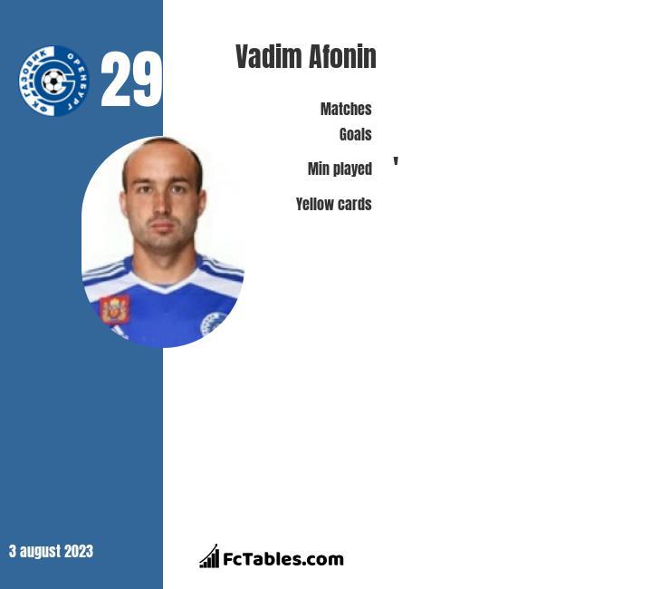 Vadim Afonin infographic