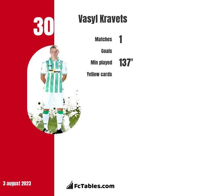 Vasyl Kravets infographic