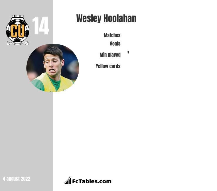 Wesley Hoolahan infographic statistics for West Bromwich Albion