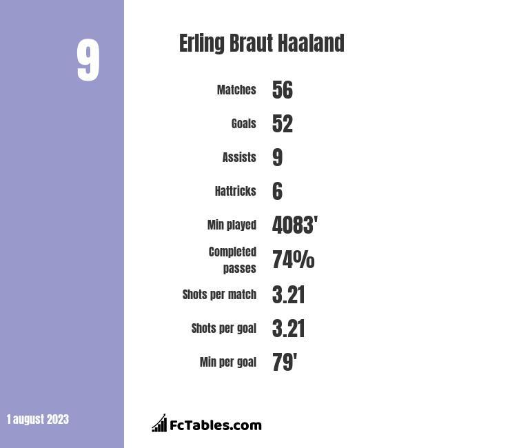 Erling Braut Haaland infographic