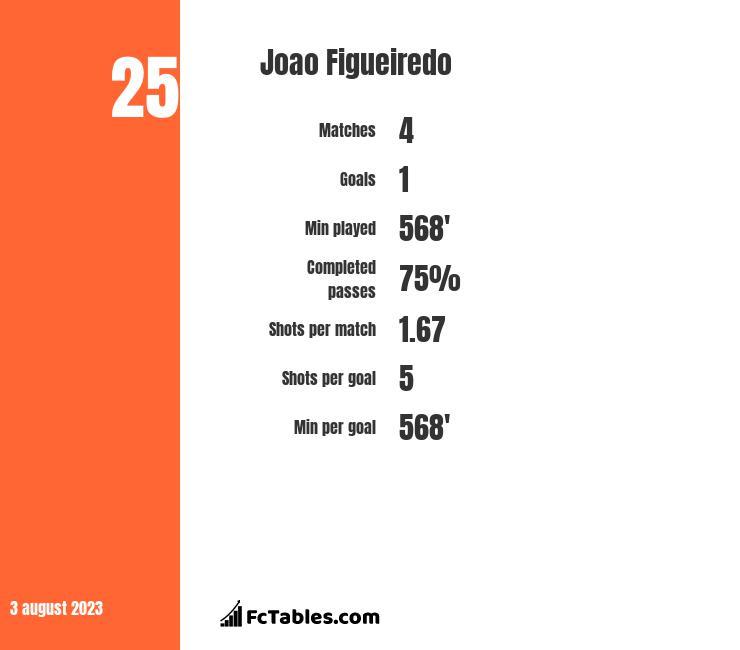 Joao Figueiredo infographic