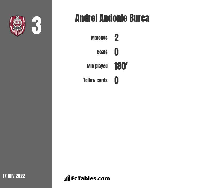 Andrei Andonie Burca infographic