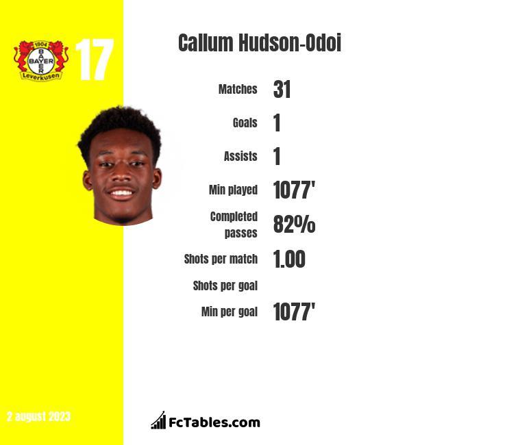 Callum Hudson-Odoi infographic