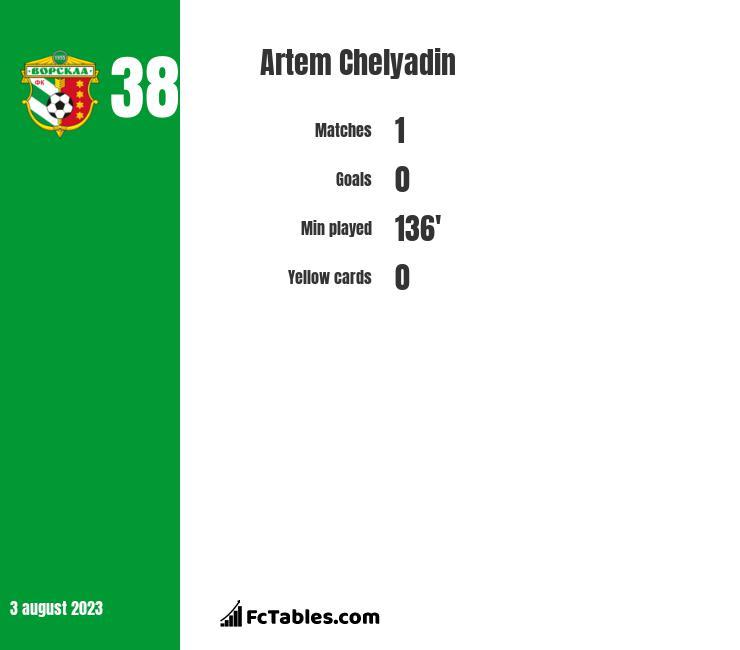 Artem Chelyadin infographic