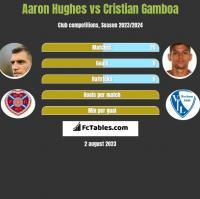 Aaron Hughes vs Cristian Gamboa h2h player stats