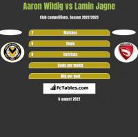 Aaron Wildig vs Lamin Jagne h2h player stats