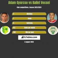 Adam Gyurcso vs Balint Vecsei h2h player stats