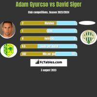 Adam Gyurcso vs David Siger h2h player stats