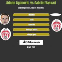 Adnan Aganovic vs Gabriel Vasvari h2h player stats