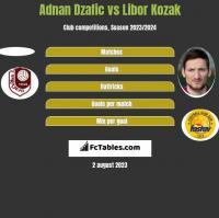 Adnan Dzafic vs Libor Kozak h2h player stats