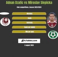 Adnan Dzafic vs Miroslav Slepicka h2h player stats