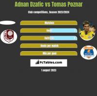 Adnan Dzafic vs Tomas Poznar h2h player stats