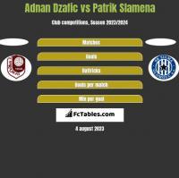 Adnan Dzafic vs Patrik Slamena h2h player stats