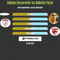Adnan Secerovic vs Gabriel Torje h2h player stats