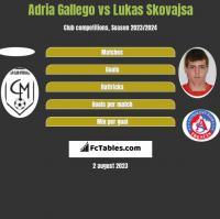 Adria Gallego vs Lukas Skovajsa h2h player stats