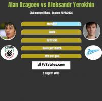 Alan Dzagoev vs Aleksandr Yerokhin h2h player stats