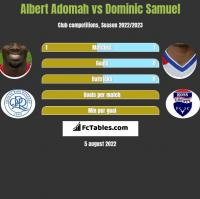 Albert Adomah vs Dominic Samuel h2h player stats