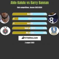 Aldo Kalulu vs Barry Bannan h2h player stats