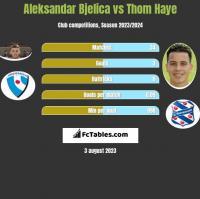 Aleksandar Bjelica vs Thom Haye h2h player stats