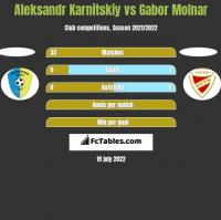 Aleksandr Karnitskiy vs Gabor Molnar h2h player stats