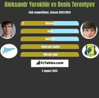 Aleksandr Yerokhin vs Denis Terentiew h2h player stats
