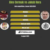 Ales Cermak vs Jakub Hora h2h player stats