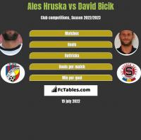 Ales Hruska vs David Bicik h2h player stats
