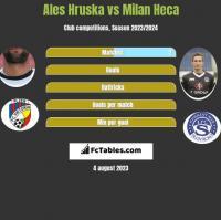 Ales Hruska vs Milan Heca h2h player stats