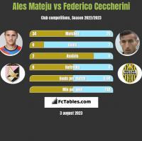 Ales Mateju vs Federico Ceccherini h2h player stats