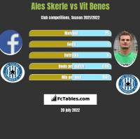 Ales Skerle vs Vit Benes h2h player stats