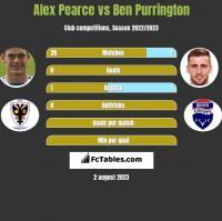Alex Pearce vs Ben Purrington h2h player stats