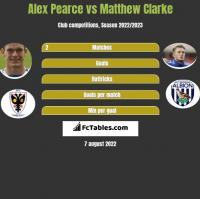 Alex Pearce vs Matthew Clarke h2h player stats