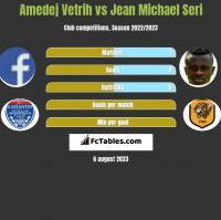 Amedej Vetrih vs Jean Michael Seri h2h player stats