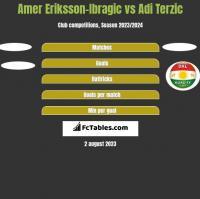 Amer Eriksson-Ibragic vs Adi Terzic h2h player stats