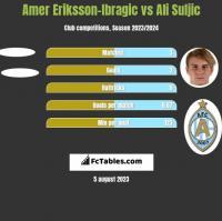 Amer Eriksson-Ibragic vs Ali Suljic h2h player stats