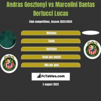 Andras Gosztonyi vs Marcolini Dantas Bertucci Lucas h2h player stats