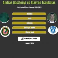 Andras Gosztonyi vs Stavros Tsoukalas h2h player stats