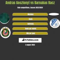 Andras Gosztonyi vs Barnabas Racz h2h player stats