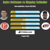 Andre Hoffmann vs Kingsley Schindler h2h player stats