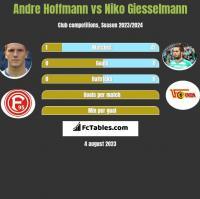 Andre Hoffmann vs Niko Giesselmann h2h player stats