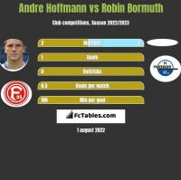Andre Hoffmann vs Robin Bormuth h2h player stats