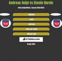Andreas Geipl vs Dzenis Burnic h2h player stats