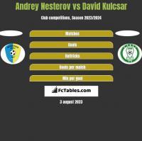 Andrey Nesterov vs David Kulcsar h2h player stats
