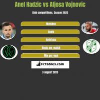 Anel Hadzic vs Aljosa Vojnovic h2h player stats