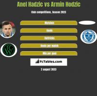 Anel Hadzić vs Armin Hodzić h2h player stats