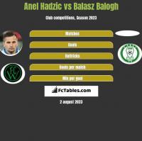 Anel Hadzic vs Balasz Balogh h2h player stats