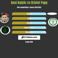 Anel Hadzic vs Kristof Papp h2h player stats
