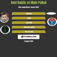 Anel Hadzic vs Mate Patkai h2h player stats