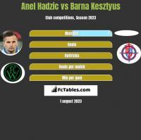 Anel Hadzić vs Barna Kesztyus h2h player stats