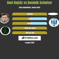 Anel Hadzić vs Dominik Schwizer h2h player stats